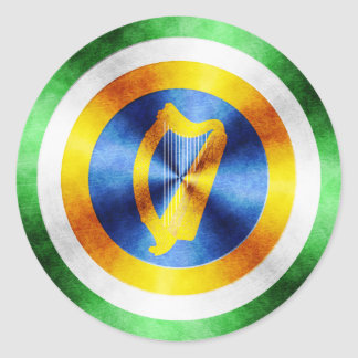 Captain Ireland Hero Shield Classic Round Sticker