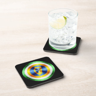 Captain Ireland Hero Shield Drink Coaster