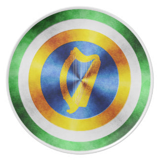 Captain Ireland Hero Shield Melamine Plate
