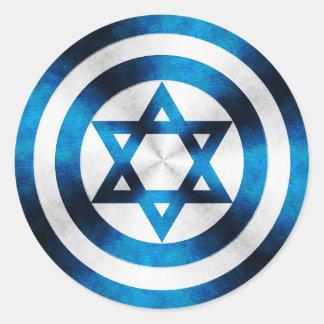 Captain Israel Hero Shield Sticker