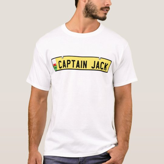 Captain Jack - Welsh license plate T-Shirt