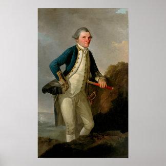 Captain James Cook Portrait Poster