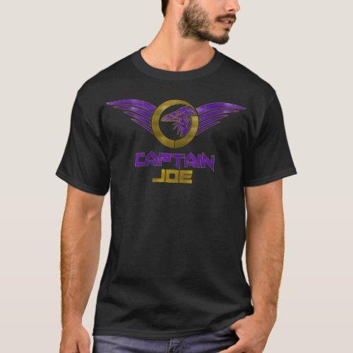 Captain Joe Stylized Logo Dark T_Shirt _ Black
