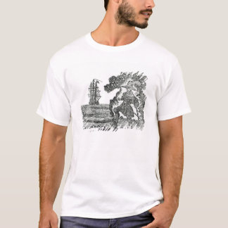 Captain Kidd Burying His Bible, illustration T-Shirt