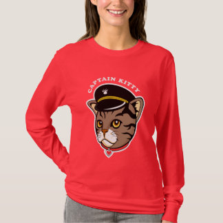 Captain Kitty Design and Gifts for cat lovers T-Shirt
