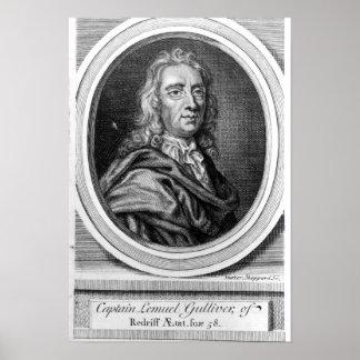 Captain Lemuel Gulliver, 1726 Poster