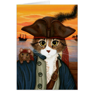 Captain Leo, Pirate Cat & Rat Fantasy Art Card