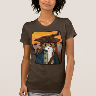 Captain Leo, Pirate Cat & Rat Fantasy Art T-Shirt