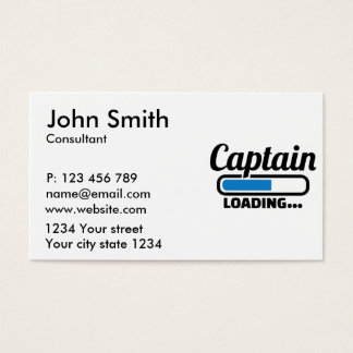 Captain loading business card