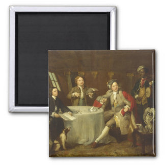 Captain Lord George Graham by William Hogarth 2 Inch Square Magnet