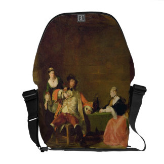 Captain Macheath Upbraided by Polly and Lucy in th Messenger Bag