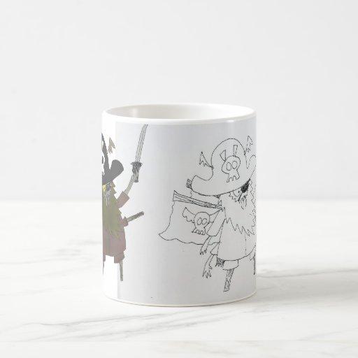 Captain Maggot original sketch vs. Colored version Coffee Mug