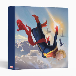 Captain Marvel Entering The Atmosphere 3 Ring Binder