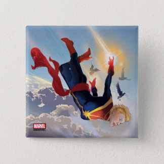 Captain Marvel Entering The Atmosphere Button