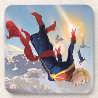 Captain Marvel Entering The Atmosphere Coaster