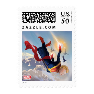 Captain Marvel Entering The Atmosphere Postage