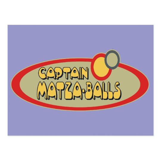 Captain MATZA BALLS Postcard