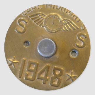 Captain Midnight Decoder Badge 1948 Classic Round Sticker
