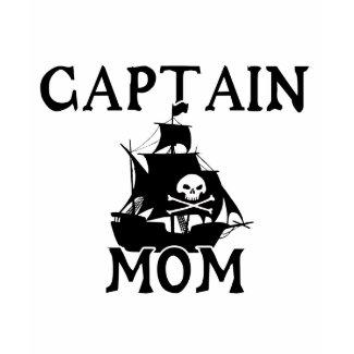 Captain Mom Ladies T-Shirt shirt