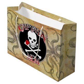 Captain Mom Large Gift Bag