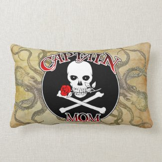 Captain Mom Lumbar Pillow