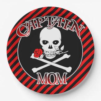 Captain Mom Paper Plates