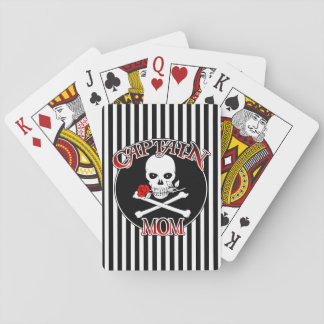 Captain Mom Playing Cards