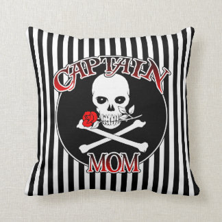 Captain Mom Throw Pillow