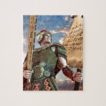 """Captain Moroni Jigsaw Puzzle<br><div class=""""desc"""">This is not only a puzzle. Piece by piece, it is something far more: a battle cry for the righteous, a Title of Liberty to the willing - not to mention standard NEPHITE NATION™ regalia for youth, sleuths, and admirers of the truth. Captain Moroni was a true hero, continually fighting...</div>"""