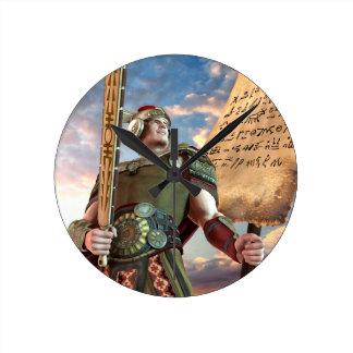 Captain Moroni Round Clock