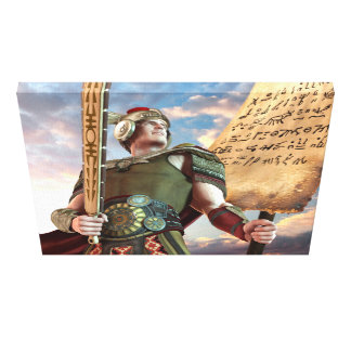 Captain Moroni Stretched Canvas Print