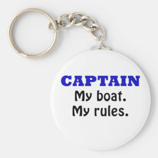 Captain My Boat My Rules Keychain