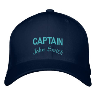 Captain name personalized embroidered baseball caps