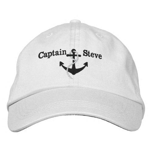 Captain Nautical Name Anchor Sailing Hat