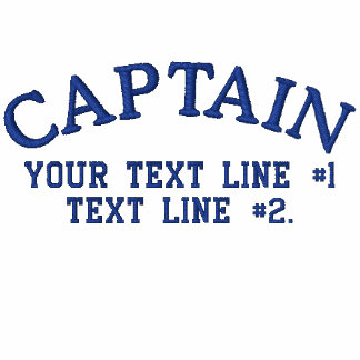 Captain Nautical Star Anchor Your Text Initials Embroidered Shirt