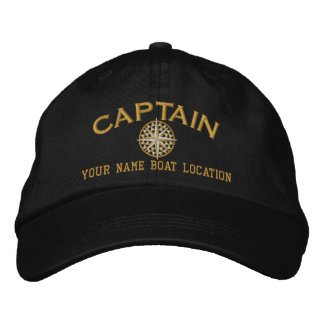 Captain Nautical STAR Personalize it! Embroidered Hats