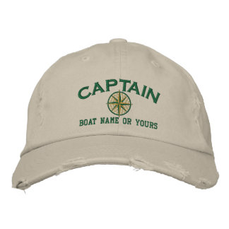 Captain Nautical STAR Personalize it! Embroidery Baseball Cap