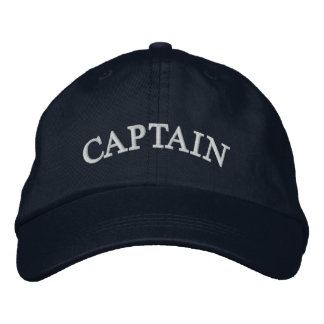 Captain Navy Blue Embroidered Hat
