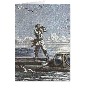 Captain Nemo Verne 20,000 Leagues Illustration Card