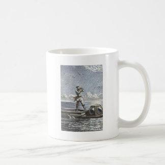 Captain Nemo Verne 20,000 Leagues Illustration Classic White Coffee Mug