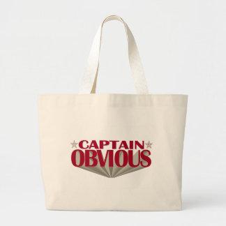 Captain Obvious Canvas Bags