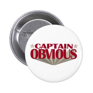Captain Obvious Pinback Button