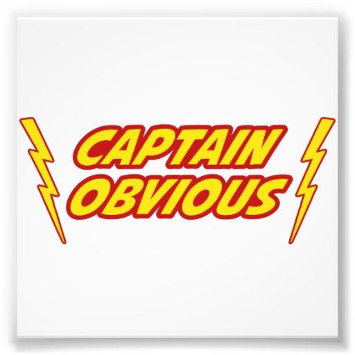 Captain Obvious Superhero Photograph