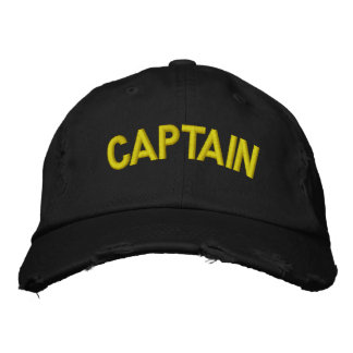 Captain of a boat or sporting team embroidered baseball hat