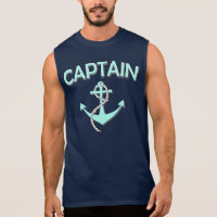 Captain of the boat with anchor