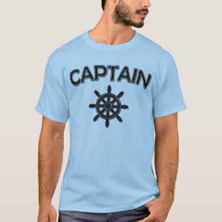 Captain of the boat with ships wheel T-Shirt