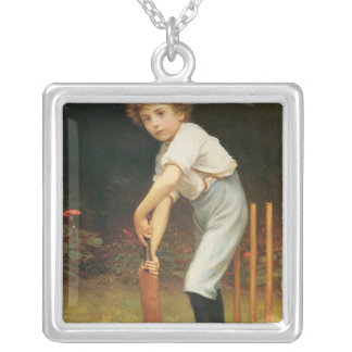 Captain of the Eleven, c.1889 Silver Plated Necklace