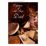 Captain of the Ship DAD Greeting Cards