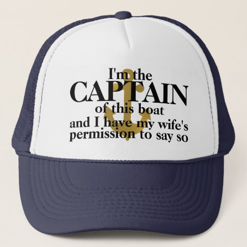 Captain Of This Boat Funny Hat