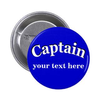 Captain para personalizar pin redondo de 2 pulgadas
